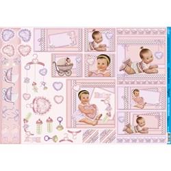 Papel para Decoupage Litoarte PD-752 Baby Girl