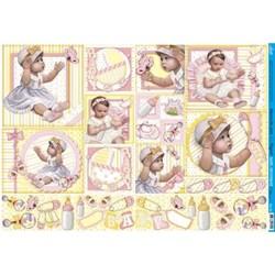 Papel para Decoupage Litoarte PD-753 Baby Girl