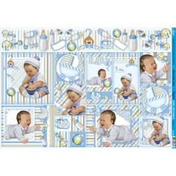 Papel para Decoupage Litoarte PD-765 Baby Boy