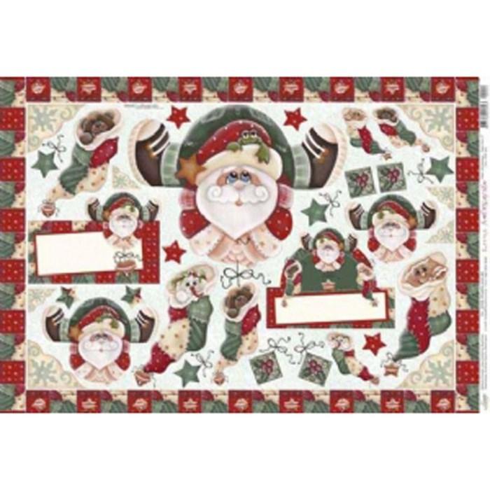 Papel para Decoupage Litoarte PDN-022 Papai Noel