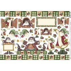 Papel para Decoupage Litoarte PDN-028 Papai Noel
