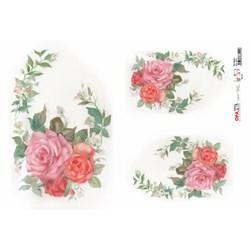 Papel para Decoupage Opa OPAPEL - 2315 Flor Rosa I