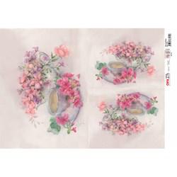 Papel para Decoupage Opa OPAPEL - 2374 Chá com Flores