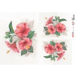 Papel para Decoupage Opa OPAPEL - 2377 Flor Hibisco