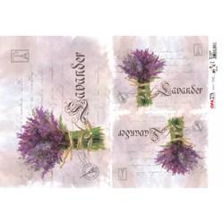 Papel para Decoupage Opa OPAPEL - 2378 Flor Lavanda