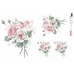 Papel para Decoupage Opa OPAPEL - 2559 Buquê Rosa Vintage