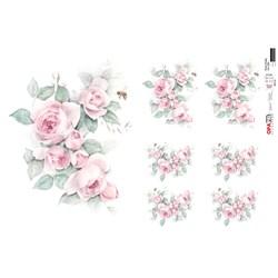 Papel para Decoupage Opa OPAPEL - 2564 Flor Rosa Vintage
