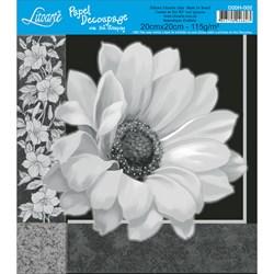 Papel para Decoupage Quadrado com Hot Stamping D20H-002 Flores