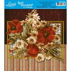 Papel para Decoupage Quadrado com Hot Stamping D20H-003 Flores