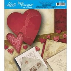 Papel para Decoupage Quadrado com Hot Stamping D20H-017 Cartas Love