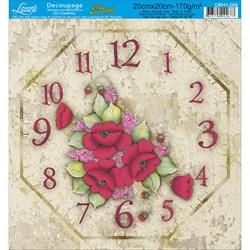 Papel para relógio com Hot Stamping DRH1-006 Flores Vermelha