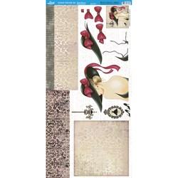Papel para Scrap 3D S3DXX-004 Mulher