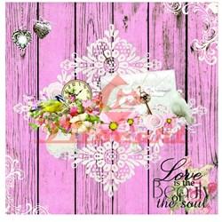 Papel para Scrap Decor LSCXX-07 Love is the Beauty
