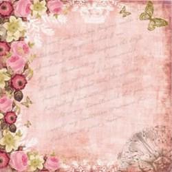 *Papel para Scrap Dupla Face Arte Fácil SC-006 Roses 02