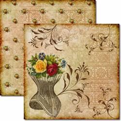*Papel para Scrap Dupla Face Arte Fácil SC-041 Busto com Flores