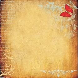 *Papel para Scrap Dupla Face Arte Fácil SC-171 Butterfly