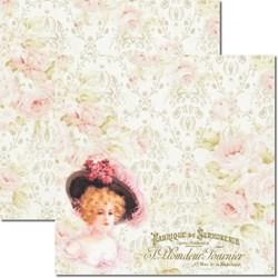 *Papel para Scrap Dupla Face Arte Fácil SC-184 Dama e Rosas