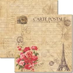*Papel .para Scrap Dupla Face Arte Fácil SC-186 Carte Postale 3