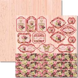*Papel para Scrap Dupla Face Arte Fácil SC-262 Rosas Tags
