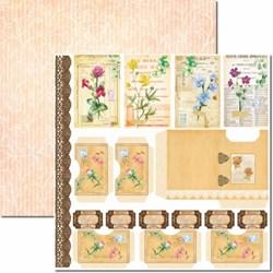 Papel para Scrap Dupla Face  Arte Fácil SC-665 Botânica 11