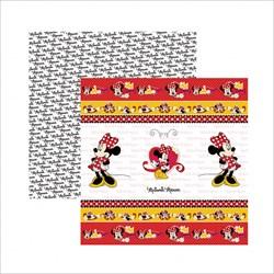 Papel para Scrap Dupla Face Disney SDFD003 Minnie Mouse Fitas e Rótulos