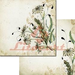 Papel para Scrap Litocart Dupla Face LSCD-182 Flores