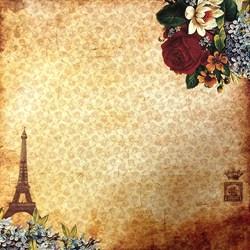 *Papel para Scrap Simples Arte Fácil SC-035 Torre Eiffel 2