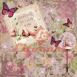 Papel para Scrapbook com Glitter Litocart LSCG-06 Cherish Dream Live