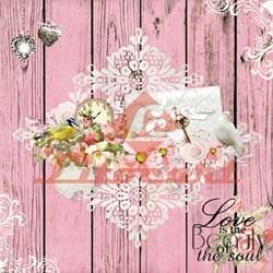 Papel para Scrapbook com Glitter Litocart LSCG-10 Love is the Beauty