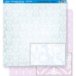 *Papel para Scrapbook Dupla Face Litoarte SD-309 Fundo verde