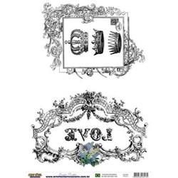 Papel para Transferência Arte Fácil TR-013 Love Moldura