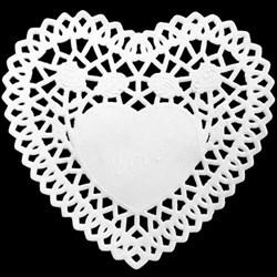 Papel Rendado (Doily) 16283 Coração Toke e Crie