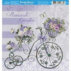 Papel Scrap Simples 15x15cm SDSXV-047 Romantic Garden