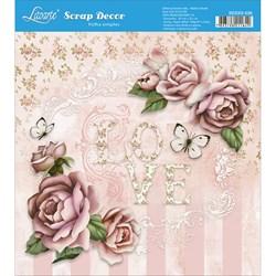 Papel Scrap Simples 20x20cm SDSXX-035 Love