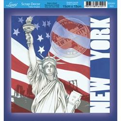 Papel Scrap Simples  SDSXV-023 New York