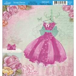 Papel Scrap Simples SDSXV-041 Vestido