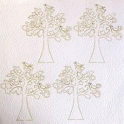 Papel Texturizado Cortado a Laser TMK-134 Árvore