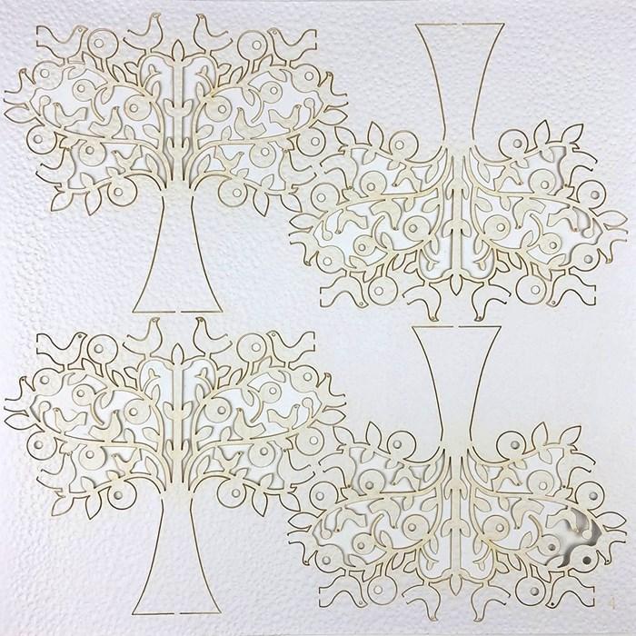Papel Texturizado Cortado a Laser TMK-140 Árvores
