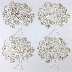 Papel Texturizado Cortado a Laser TMK-141 Árvores