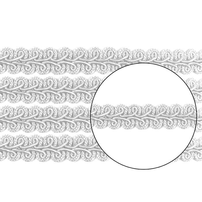 Passamanaria 13mm 7090 - Cor 01 Branco - com 10 metros