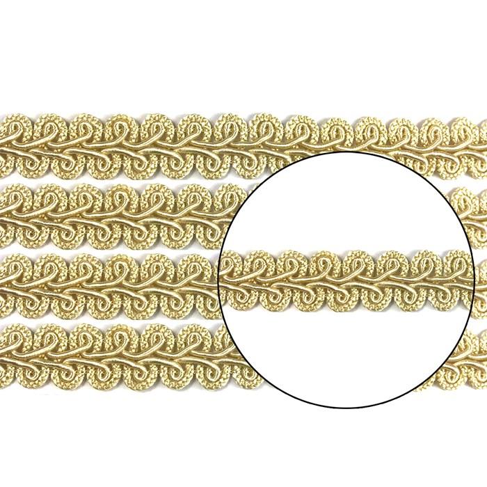 Passamanaria 13mm 7090 - Cor 106 Champanhe - com 10 metros