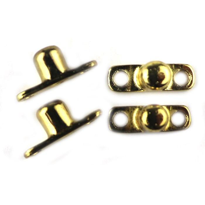 Pé Baixo Toco P111-2 Ouro - com 4 unidades