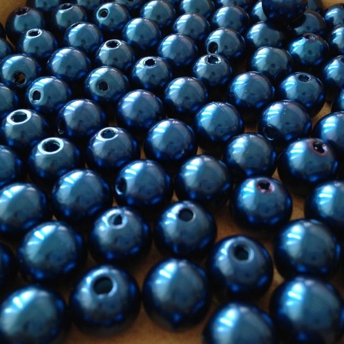 Pérola 10mm Azul Bic (PI019) - Embalagem com 95grs