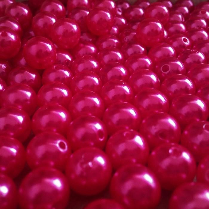 Pérola 10mm Pink (PI038) - Embalagem com 95grs