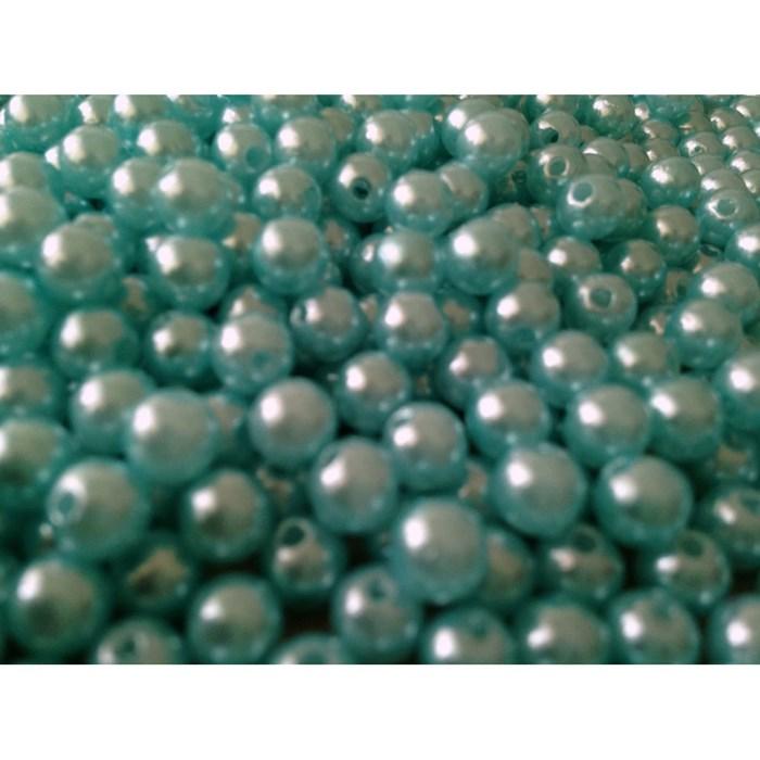 Pérola 5mm Azul Turquesa (PI028) - Embalagem com 95grs