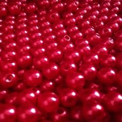 Pérola 5mm Vermelho (PI041) - Embalagem com 95grs