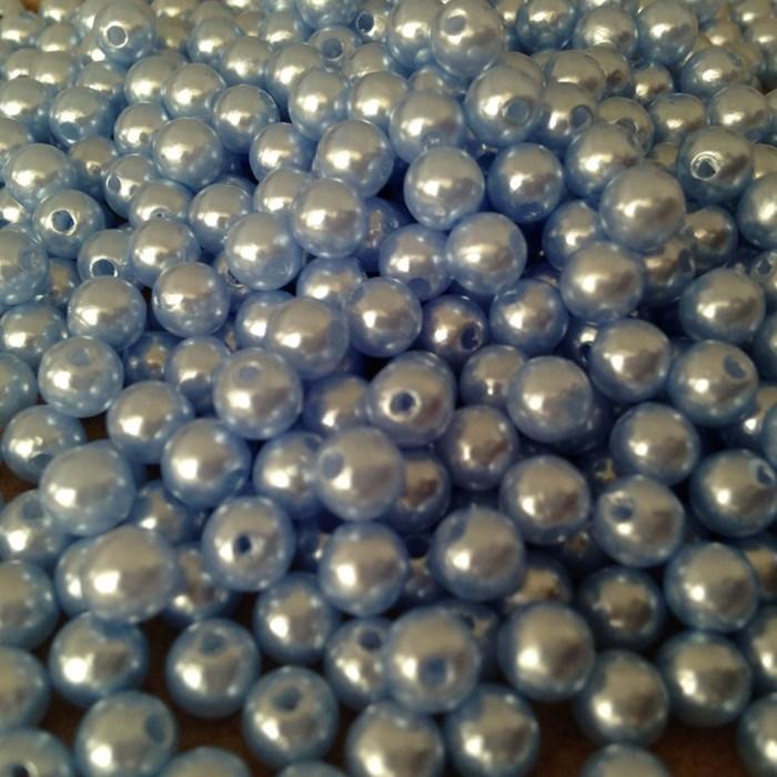 Pérola 6mm Azul Claro (PI013) - Embalagem com 95grs