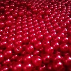 Pérola 6mm Vermelho (PI016) - Embalagem com 95grs