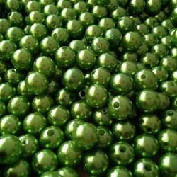 Pérola 8mm Verde Folha (PI029) - Embalagem com 95grs