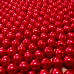 Pérola 8mm Vermelho Escuro (PI015) - Embalagem com 95grs